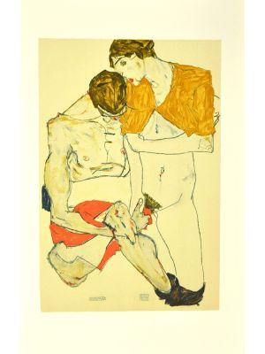 Lovers by Egon Schiele - Modern Artwork