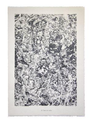 Texte de roche - From Eaux, Pierres, Sable by  Jean Dubuffet - Contemporary Artwork