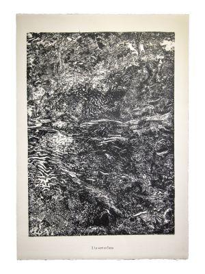 Le vent et l'eau  - From Eaux, Pierres, Sable by  Jean Dubuffet - Contemporary Artwork