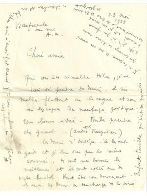 Jean Cocteau, Autograph Letter by Cocteau - Manuscripts