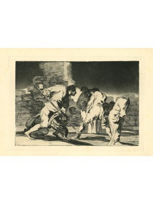 Disparate furioso  - from Los Proverbios by  Francisco Goya - Old Master artwork