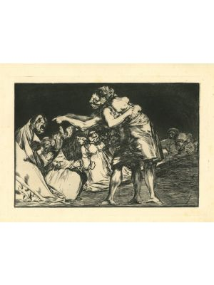 Disparate matrimonial  - from Los Proverbios by  Francisco Goya - Old Master artwork