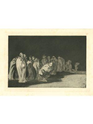 Los ensacados - from Los Proverbios by  Francisco Goya - Old Master artwork