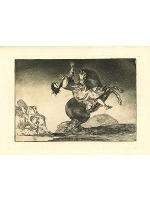 El caballo raptor- from Los Proverbios by  Francisco Goya - Old Master artwork