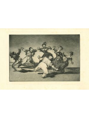 Disparate alegre - from Los Proverbios by  Francisco Goya - Old Master artwork