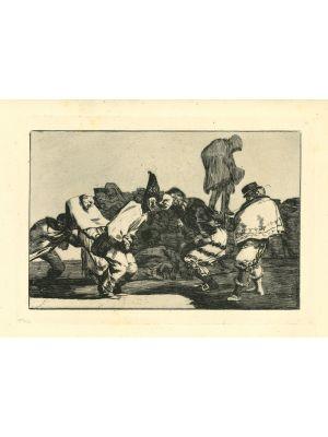 Disparate de carnaval - from Los Proverbios by  Francisco Goya - Old Master artwork