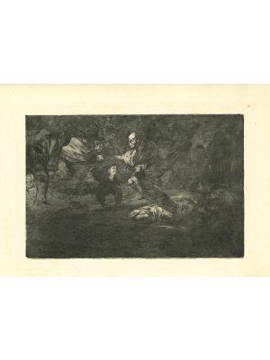 Disparate fúnebre - from Los Proverbios by  Francisco Goya - Old Master artwork
