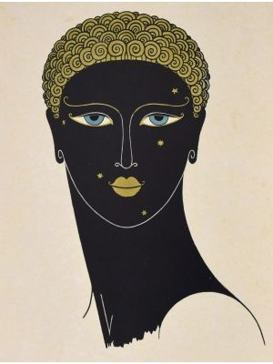 Erté is a great woodcut on ivory-colored cardboard made by the Anonymous artist of the 1971.
