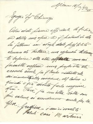 Autograph Letter by Arturo Martini - Manuscript