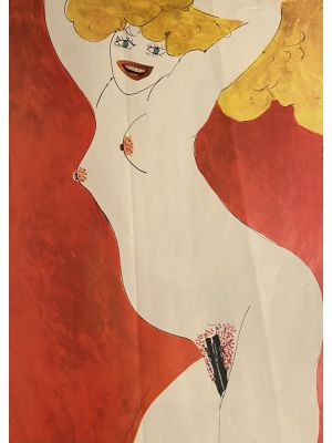 Nude of Woman is an original offset artwork realized by Sergio Barletta in 1970.