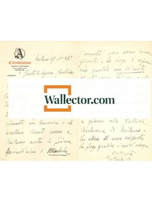 Carlo Carrà,Correspondence by carrà - Manuscripts
