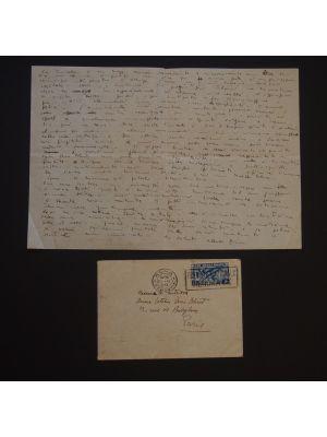 Alberto Ziveri - The Cometa Gallery - Autograph - Manuscript