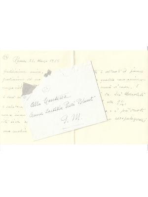 Autograph Letter by Aldo Palazzeschi - Manuscripts