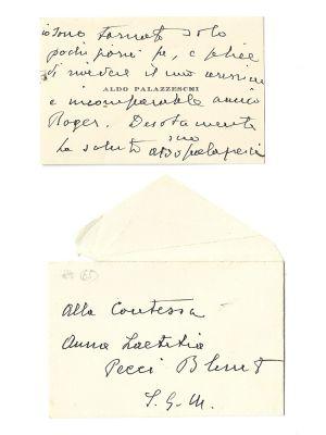 Aldo Palazzeschi - Autograph Card - Manuscripts