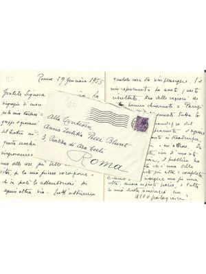 Aldo Palazzeschi - Autograph - Manuscripts