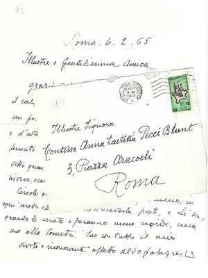 Aldo Palazzeschi - A Night at the Cometa - Autograph - Manuscripts