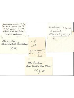 4 Aldo Palazzeschi's Business Cards - Manuscripts
