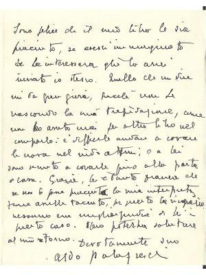 Aldo Palazzeschi - Autograph Letter - Manuscripts