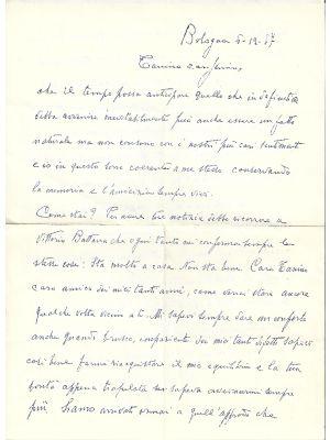 Aldo Palazzeschi - Memories - Autograph Letter Signed -Manuscripts
