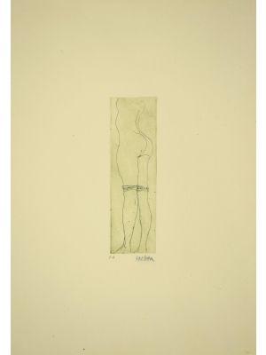Maiden is an original etching realized by Sergio Barletta in XX Century.