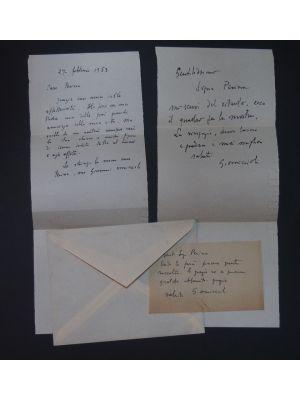 Autographs by Giovanni Omiccioli - Manuscripts