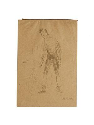 Zimmerman et sa Machine by Henri de Toulouse-Lautrec - Modern Artwork