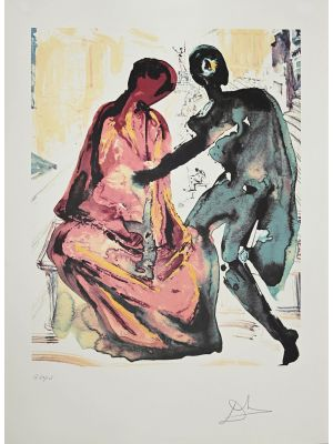 Anthony and Cleopatra. From Les Amoureux by Salvador Dalì -  Contemporary Artwork