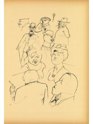 Homeland figures  from  Ecce Homo by George Grosz - Modern Artwork
