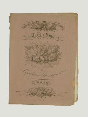Copertina e testo della vita di Napoleone by Anonymous Artist - Rare book