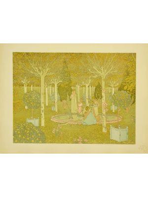 The Parc from L'Estampe Moderne by Gaston de Latenay  - Modern Artwork