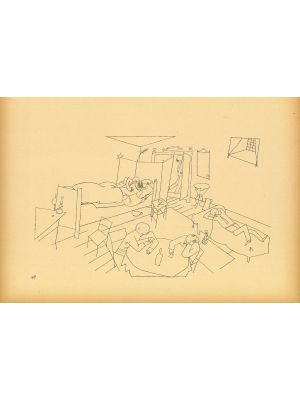 Cross building four flights of stairs   from  Ecce Homo by George Grosz - Modern Artwork