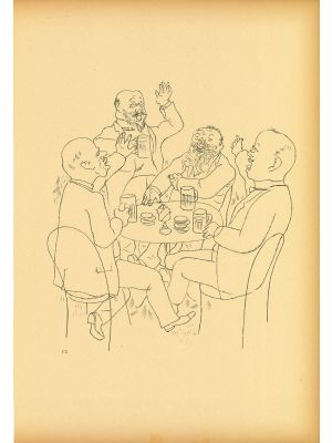 Old lad glory  from  Ecce Homo by George Grosz - Modern Artwork