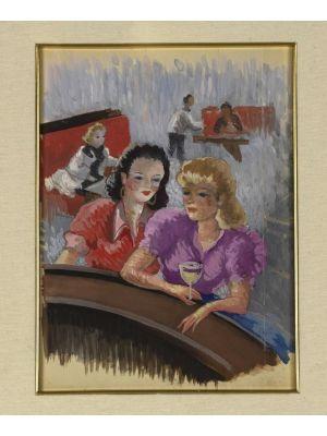 Girls at the bar by Jean-Raym Delpech - Modern Artwork