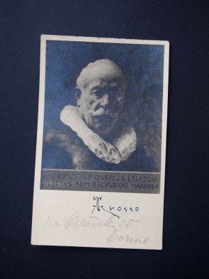 Postcard by Giacomo Grosso - Manuscripts
