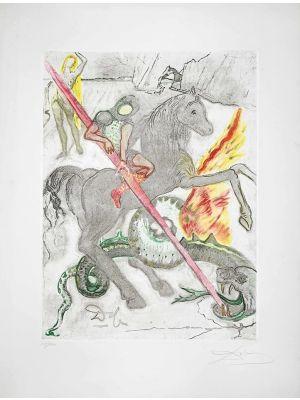 Saint George and the Dragon by Salvador Dalì -  Contemporary Artwork