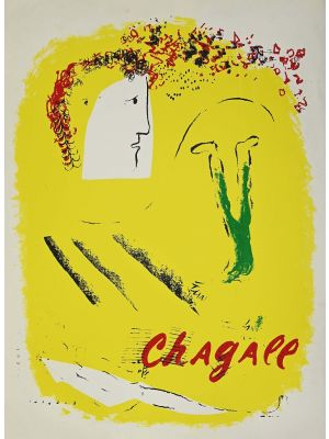 Le Fond Jaune by Marc Chagall - Contemporary Artwork