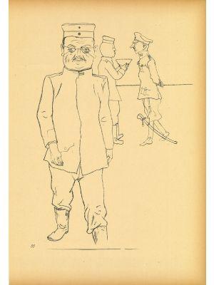 General from  Ecce Homo by George Grosz - Modern Artwork
