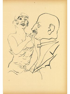 Couple from Ecce Homo by  George Grosz - Modern Artwork