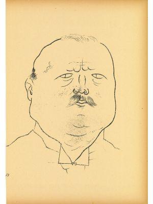 Man of honor from Ecce Homo by  George Grosz - Modern Artwork