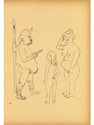 Richard Wagner memorial sheet from Ecce Homo by  George Grosz - Modern Artwork