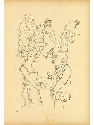 Genre scene from Ecce Homo by  George Grosz - Modern Artwork
