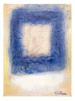 Blue Square by Giorgio Lo Fermo - Contemporary Artwork