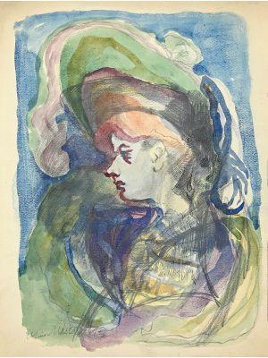 Portrait 1955s. by Mino Maccari.