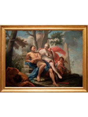 Hercules and Omphale - Modern Artwork