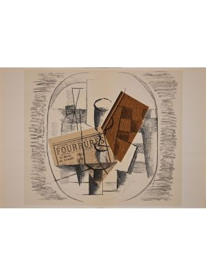 Still Life from Derriere Le Miroir byGeorges Braque - Contemporary Artwork
