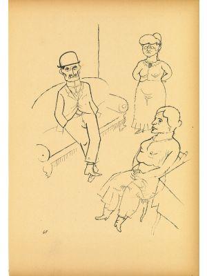 Conversation from Ecce Homo by  George Grosz - Modern Artwork