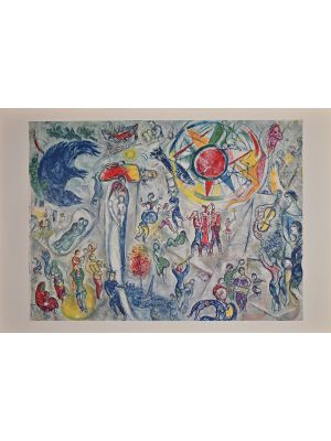 La Vie  from Derriere Le Miroir bty Marc Chagall - Contemporary Artwork