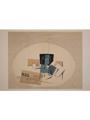 Papiers collés from Derriere Le Miroir by George Braque -Contemporary Artwork