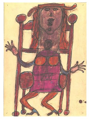 Dubuffet Composition from A même la pierre by Jean Dubuffet -  Contemporary Artwork