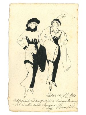 Fashionable Women by Anonymous - Modern Artwork
